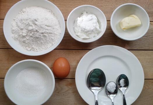 Ингредиенты для печенья из детского творожка
