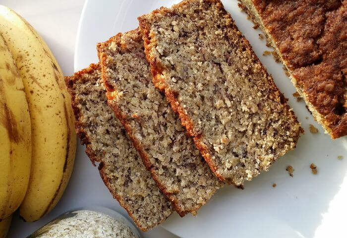 Банановый хлеб из овсянки