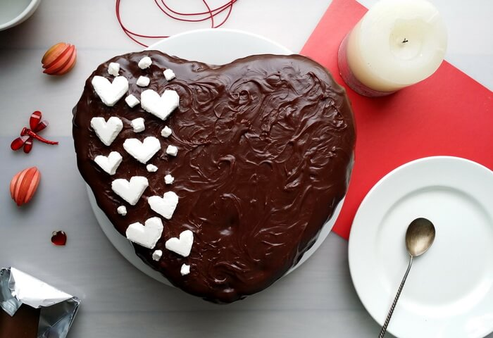 Шоколадный торт «Сердце»