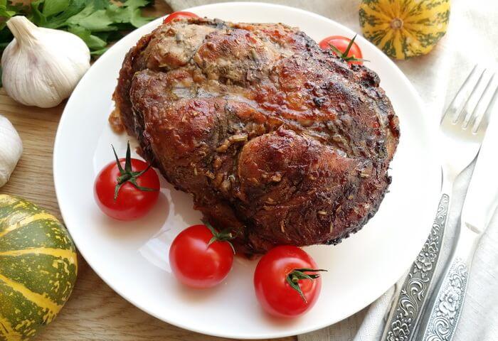 Свиная шея в горчице в духовке