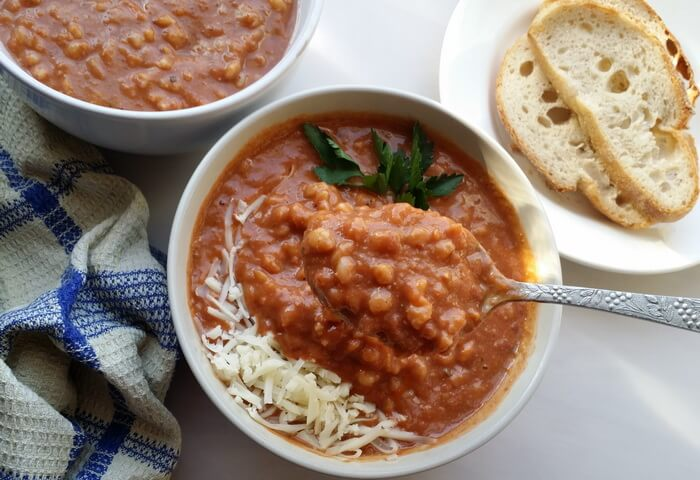 Тосканский суп-пюре с полбой