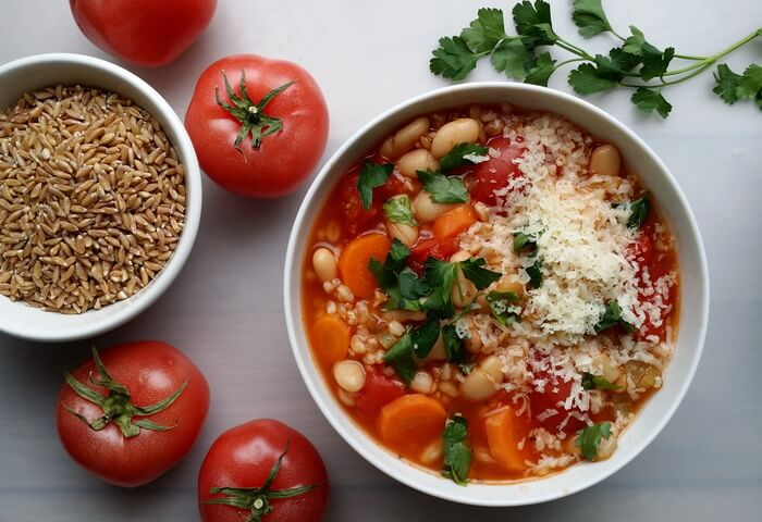 Тосканский суп с полбой