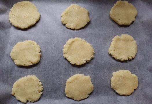Печенье из манки и кефира без яиц до выпечки