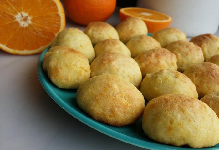 Постное печенье с апельсиновым соком