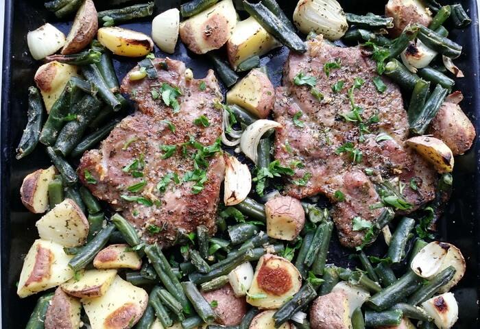 Свинина с стручковой фасолью в духовке